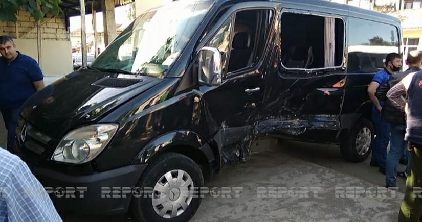 Цепная авария в Лянкяране - шестеро раненых