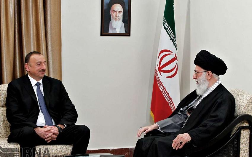 Azərbaycan Prezidenti İranın Ali Rəhbəri ilə görüşüb