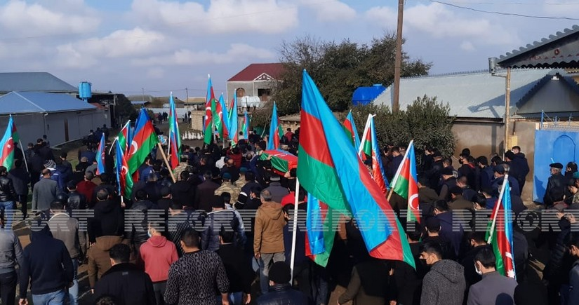 Azərbaycan Ordusunun şəhid hərbçisi Cəlilabadda dəfn edilib