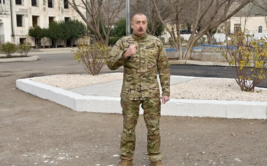 Ильхам Алиев: В ходе Второй Карабахской войны все увидели, кто ведет честный бой, а кто подло атакует