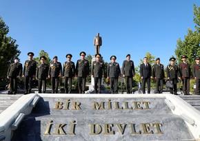 Chief of Azerbaijani Army General Staff visits Heydar Aliyev Park in Ankara