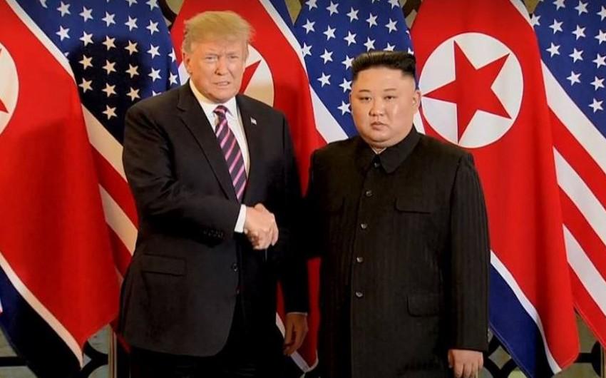 ABŞ və KXDR liderlərinin ikitərəfli görüşü başa çatıb - FOTO - YENİLƏNİB