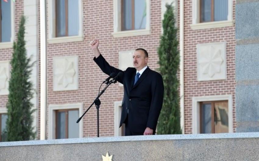 Prezident İlham Əliyev: Azərbaycan ordusu dünya miqyasında güclü ordular sırasındadır