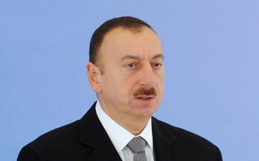 Президент Ильхам Алиев встретился с членами сборной команды Азербайджана по поло