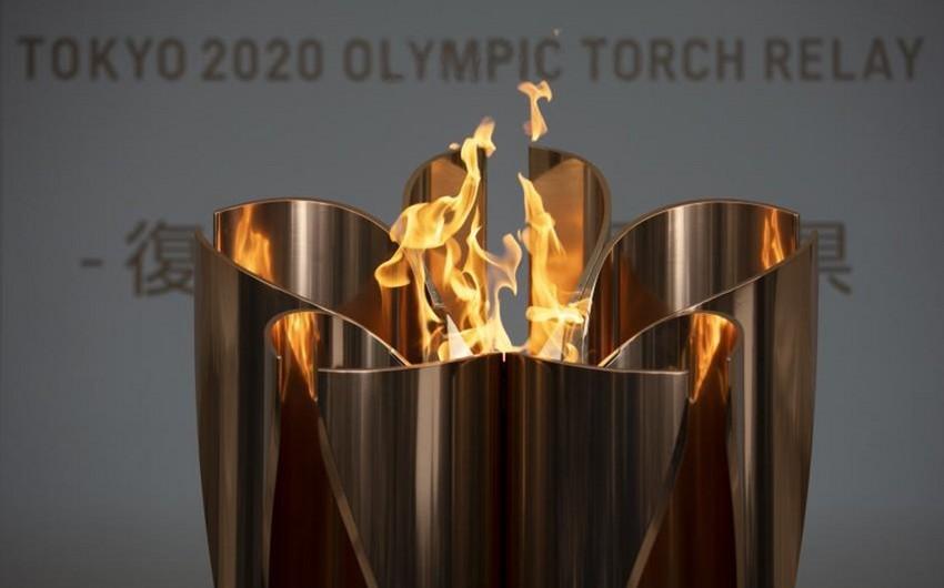 Tokio olimpiadasının məşəli sərgidən çıxarılır