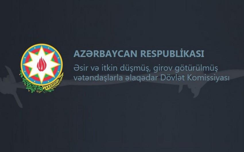 Dövlət Komissiyası: Hazırda 3 Azərbaycan vətəndaşı Ermənistanda əsir-girovluqda saxlanılır