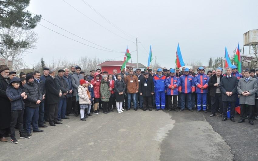 Biləsuvar rayonunun 2 kəndinə içməli su verilib