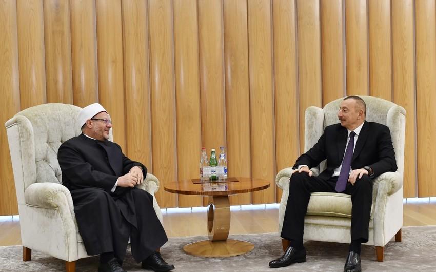 Президент Ильхам Алиев принял верховного муфтия Египта