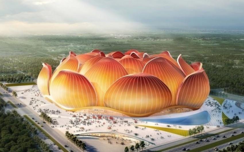 China: Lotus flower shape football stadium broke ground - VIDEO