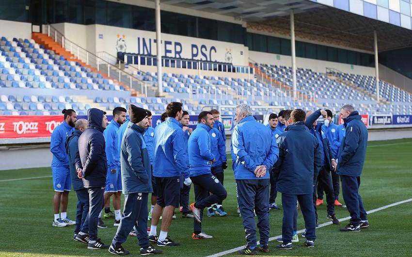 Бакинский Интер провел первую тренировку 2017 года