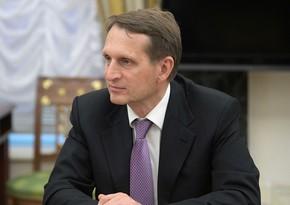 Sergey Narışkin Azərbaycan Prezidentinə məktub yazıb