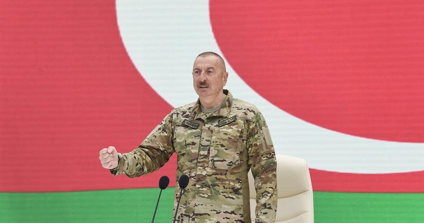 """Prezident: """"Müharibə gedə-gedə bizə qarşı sanksiyalar tətbiq etmək istəyirdilər"""""""
