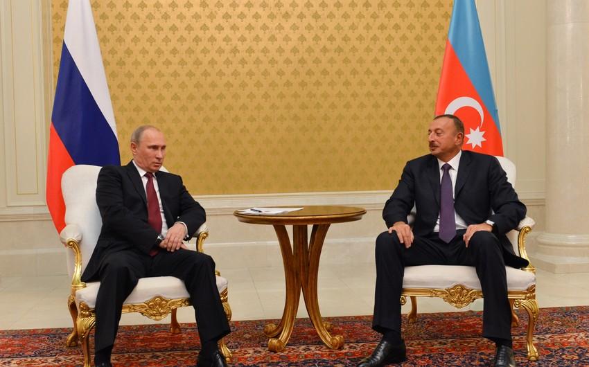 İlham Əliyev: Bu il Rusiya prezidenti ilə keçirilən görüşlərdən hər biri nəticə verib