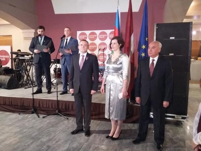 В Баку состоялся официальный прием по случаю 97-летия создания независимого латвийского государства