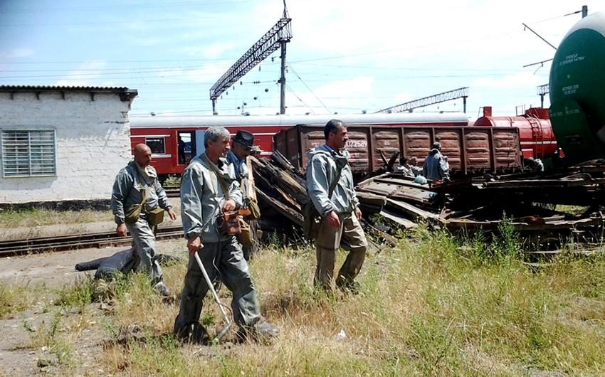 Hacıqabul dəmir yolu qovşağında mülki müdafiə təlimi keçirilib