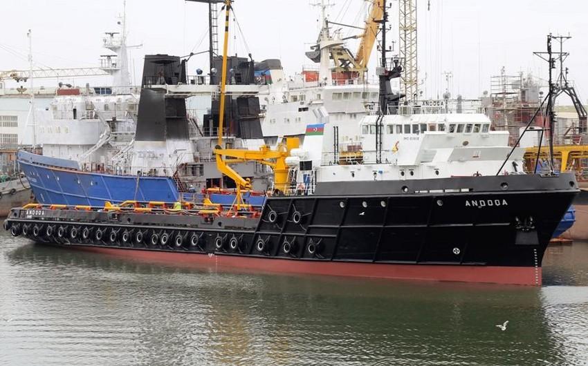 Gəmiçiliyin təchizat-yedək gəmisi əsaslı təmir olunub
