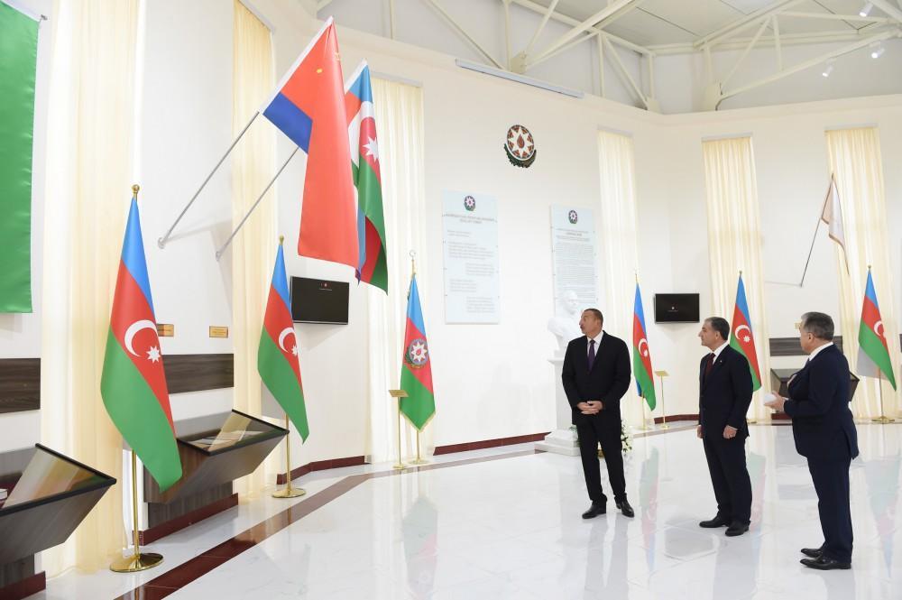 Azərbaycan Prezidenti Beyləqanda Bayraq Muzeyinin açılışında iştirak edib