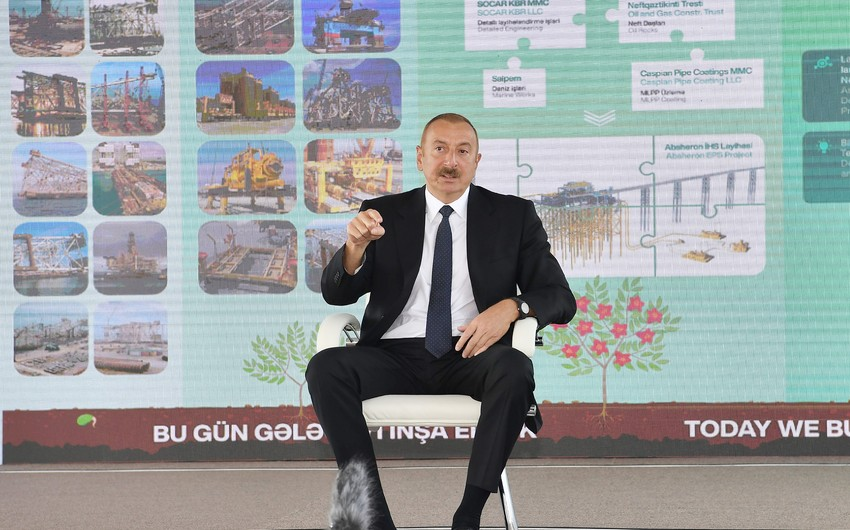 İlham Əliyev: Bu gün Azərbaycan bütün reytinqlərdə ən qabaqcıl yerlərdədir