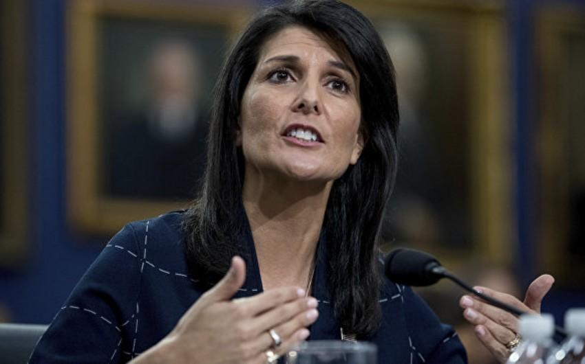 Nikki Heyli: Suriya hadisələrinin İranda təkrarlanmasına yol vermək olmaz