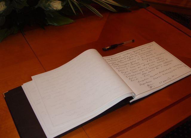 Kazakh Embassy to Azerbaijan opens a book of condolences