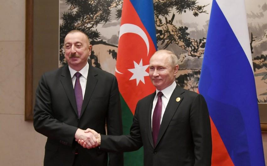 Ильхам Алиев поздравил Владимира Путина с победой правящей партии на выборах
