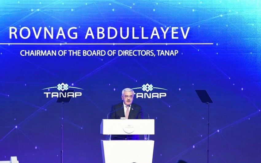 Rovnag Abdullayev: TANAP to accelerate economic development of Turkey and Azerbaijan