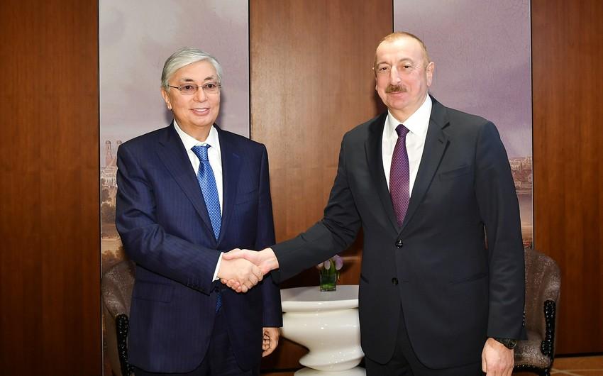 Президент Ильхам Алиев позвонил президенту Казахстана