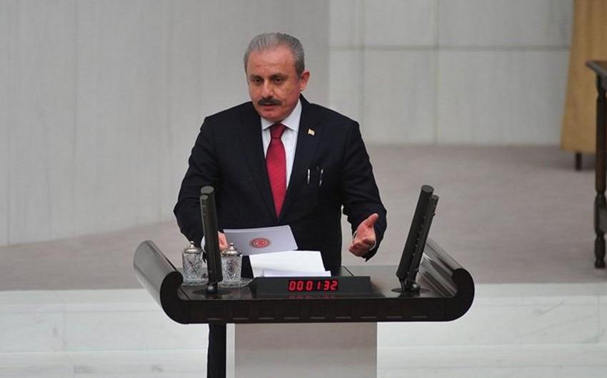 TBMM sədri Mustafa Şentop Milli Məclis üzvlərini təbrik edib