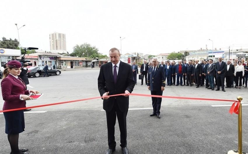 Президент Ильхам Алиев принял участие в открытии комплекса Сабунчинского железнодорожного вокзала