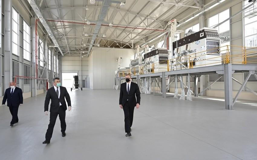 В Агджабеди введен в строй новый завод