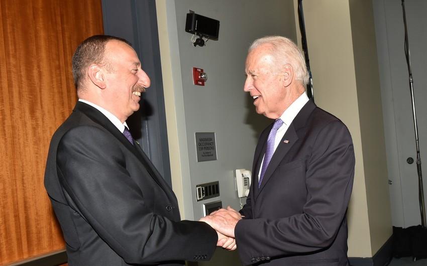 Biden congratulates President of Azerbaijan