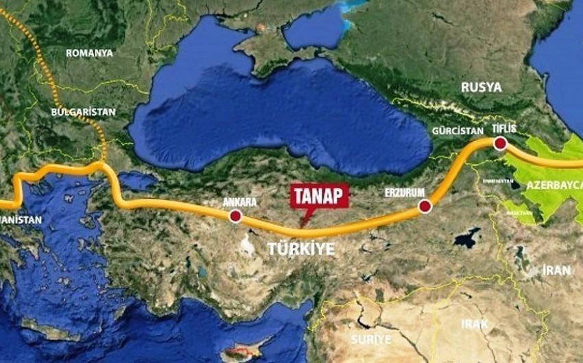 TANAP-la 198 mln. kubmetr qaz nəql edilib