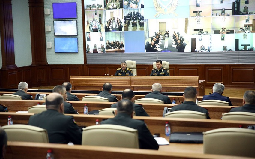 Zakir Hasanov held official meeting, ordered to improve combat readiness
