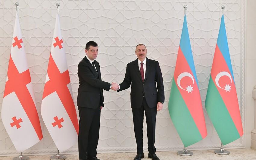 Azərbaycan Prezidenti Gürcüstanın Baş Nazirini qəbul edib - YENİLƏNİB