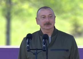 Azərbaycan Prezidenti: Biz Şuşanı quracağıq, bərpa edəcəyik, mənfur düşmən isə Şuşanı dağıdırdı