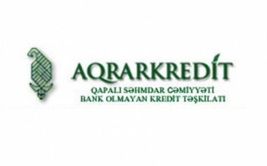 """""""Aqrarkredit"""" BOKT-nin verdiyi kreditlərin 9%-nin vaxtı keçib"""