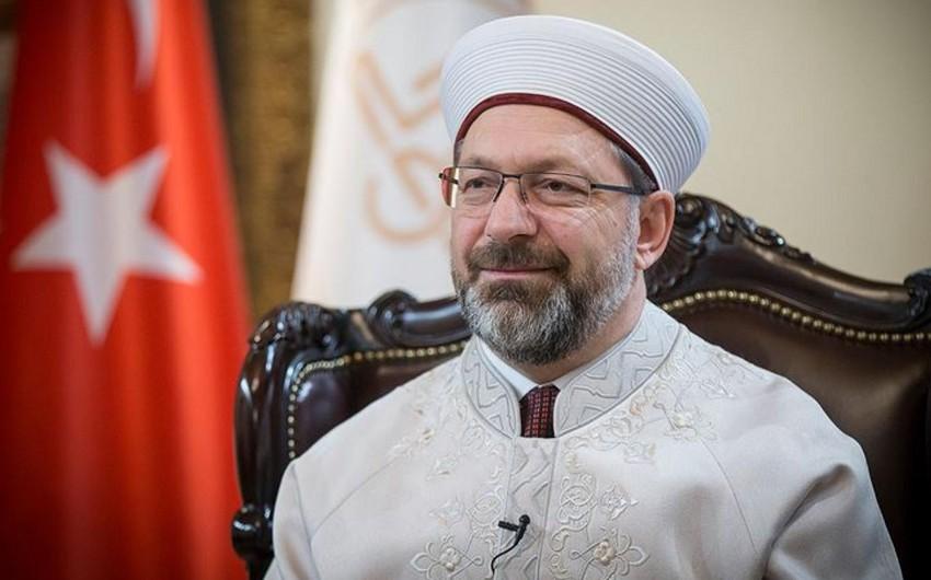 Türkiyənin Dini İşlər İdarəsinin sədri koronavirusa yoluxub