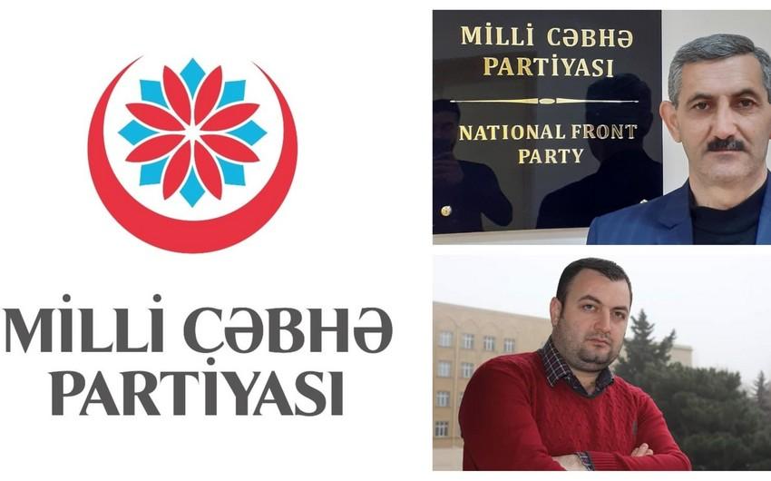 Milli Cəbhə Partiyasında yeni təyinatlar olub