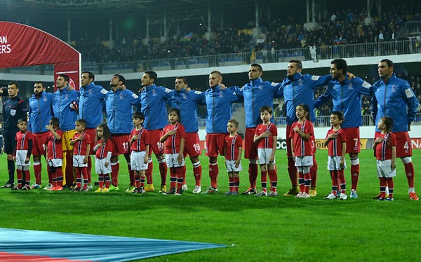 Azərbaycan milli komandası 2014-cü ili FİFA reytinqində 135-ci pillədə başa vurub