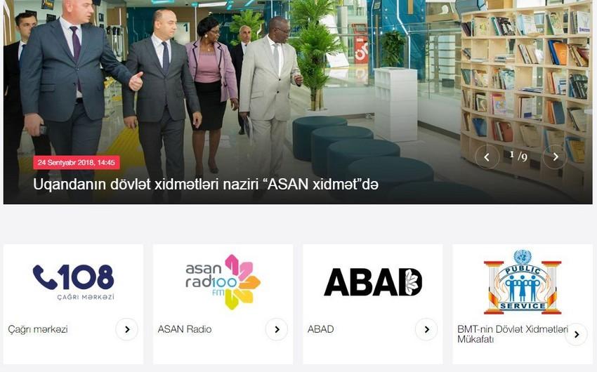 Vətəndaşlara Xidmət və Sosial İnnovasiyalar üzrə Dövlət Agentliyinin saytının dizaynı dəyişdirilib