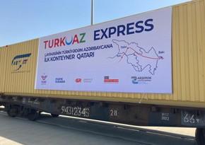 TURKUAZ express block train arrives in Baku