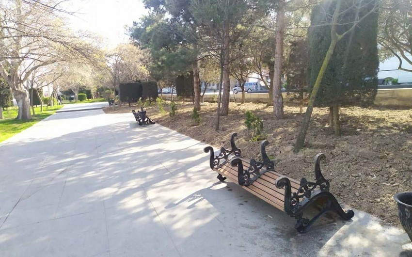 Koronavirusa görə parklarda skamyalar yığışdırıldı