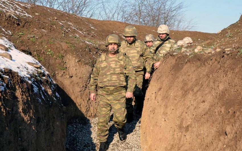 Azərbaycan ordusunun ön xətdə yerləşən bölmələrinin hazırlığı yoxlanılıb