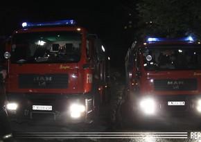 В Кюрдамире произошел пожар в жилом доме