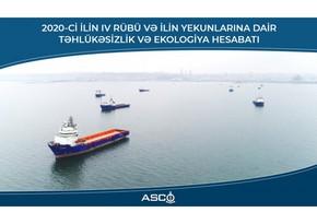 ASCO ötən ilin təhlükəsizlik və ekologiya hesabatını verib