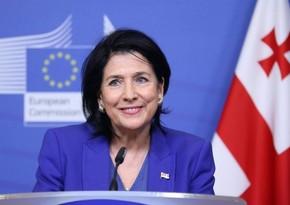 """Salome Zurabişvili: """"Qafqazın gələcəyini bölgə ölkələri birgə müəyyən etməlidirlər"""""""