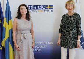 Председатель и генеральный секретарь ОБСЕ обсудили ситуацию в Карабахе