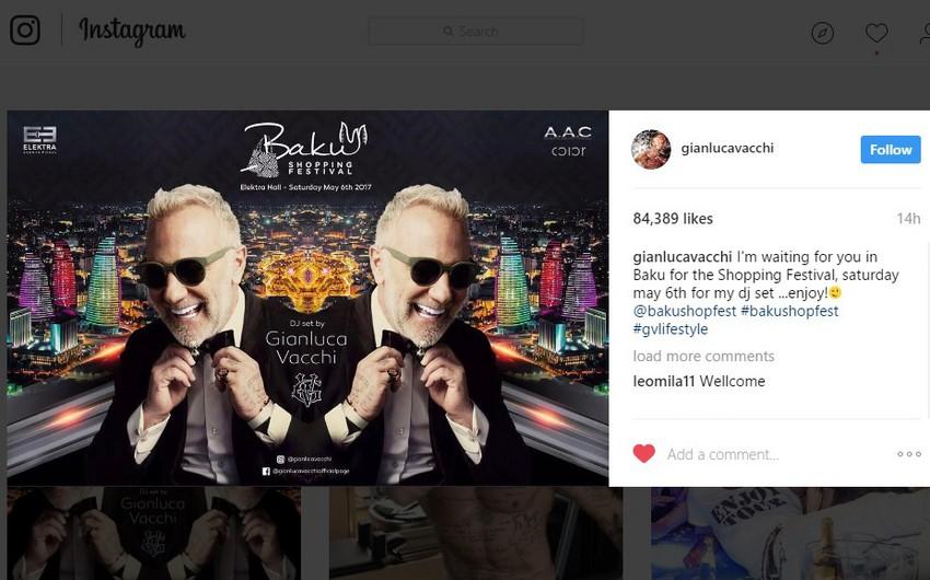 Джанлука Вакки: 6 мая жду вас на DJ вечере, на Бакинском шопинг-фестивале