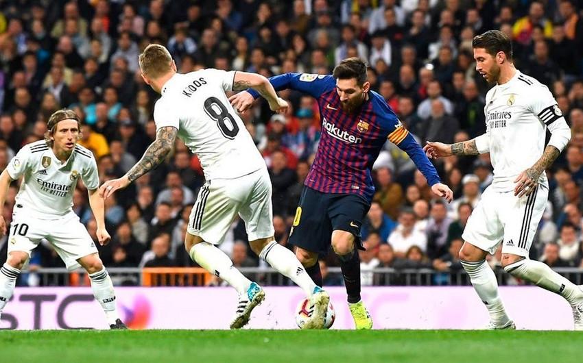 """""""Barselona""""  """"Real Madrid"""" oyununun vaxtı dəqiqləşib"""