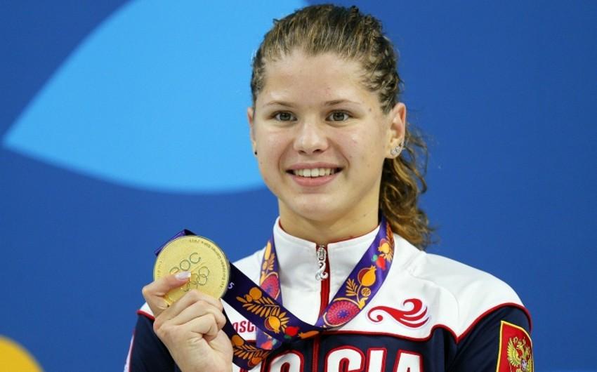 Rusiyalı üzgüçü medalların sayına görə Avropa Oyunlarında rekord vurub